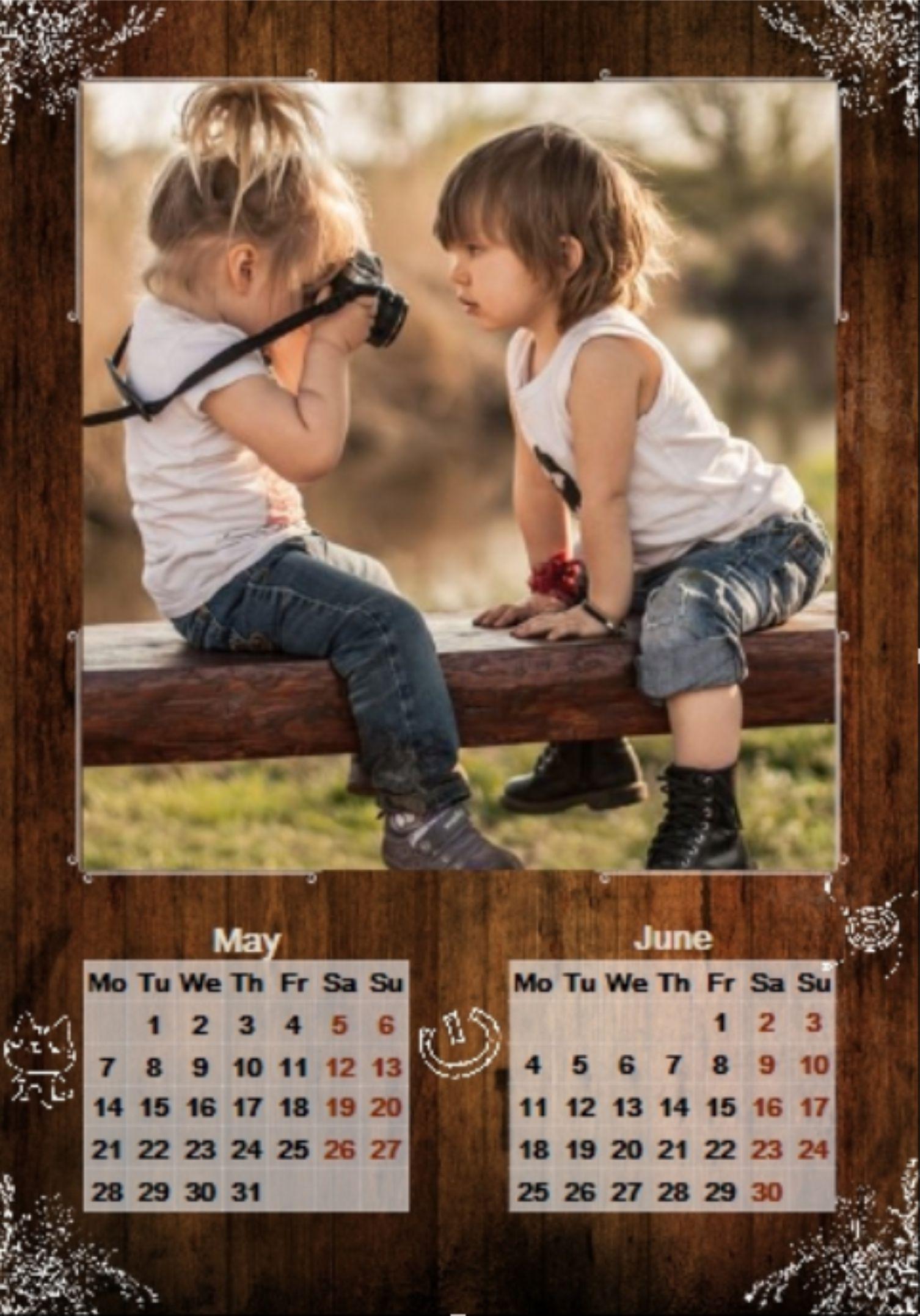 Деревянный фото-календарь