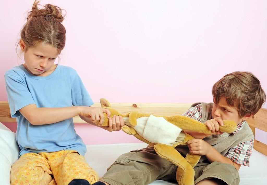 детская борьба за игрушку