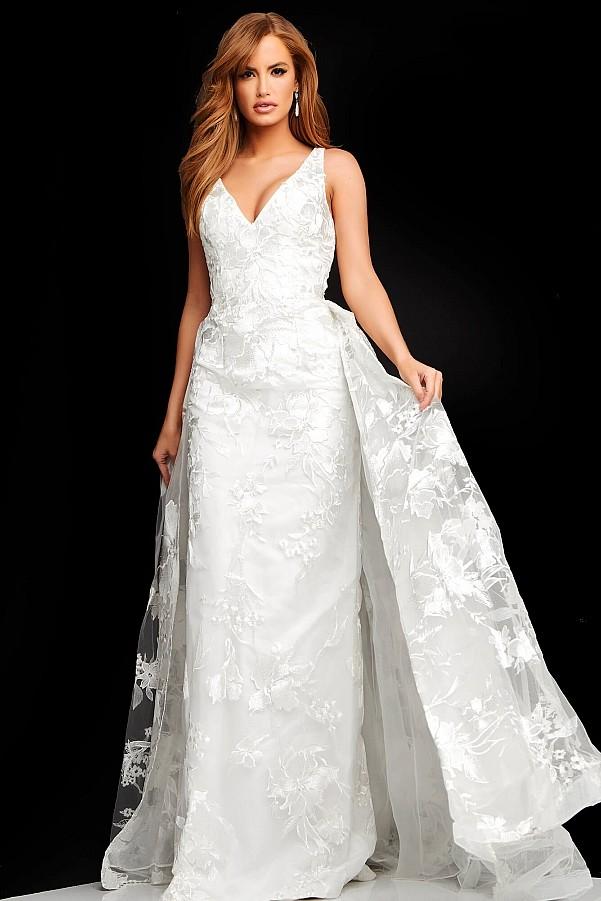 белое платье с декольте праздничное вечернее