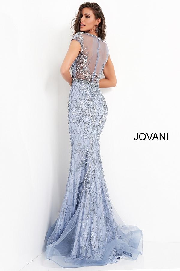 голубое блестящее платье красивое