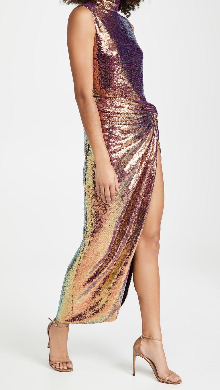 длинное вечернее платье блестящее