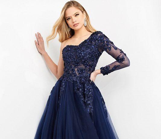 вечернее длинное платье в пол синее праздничное
