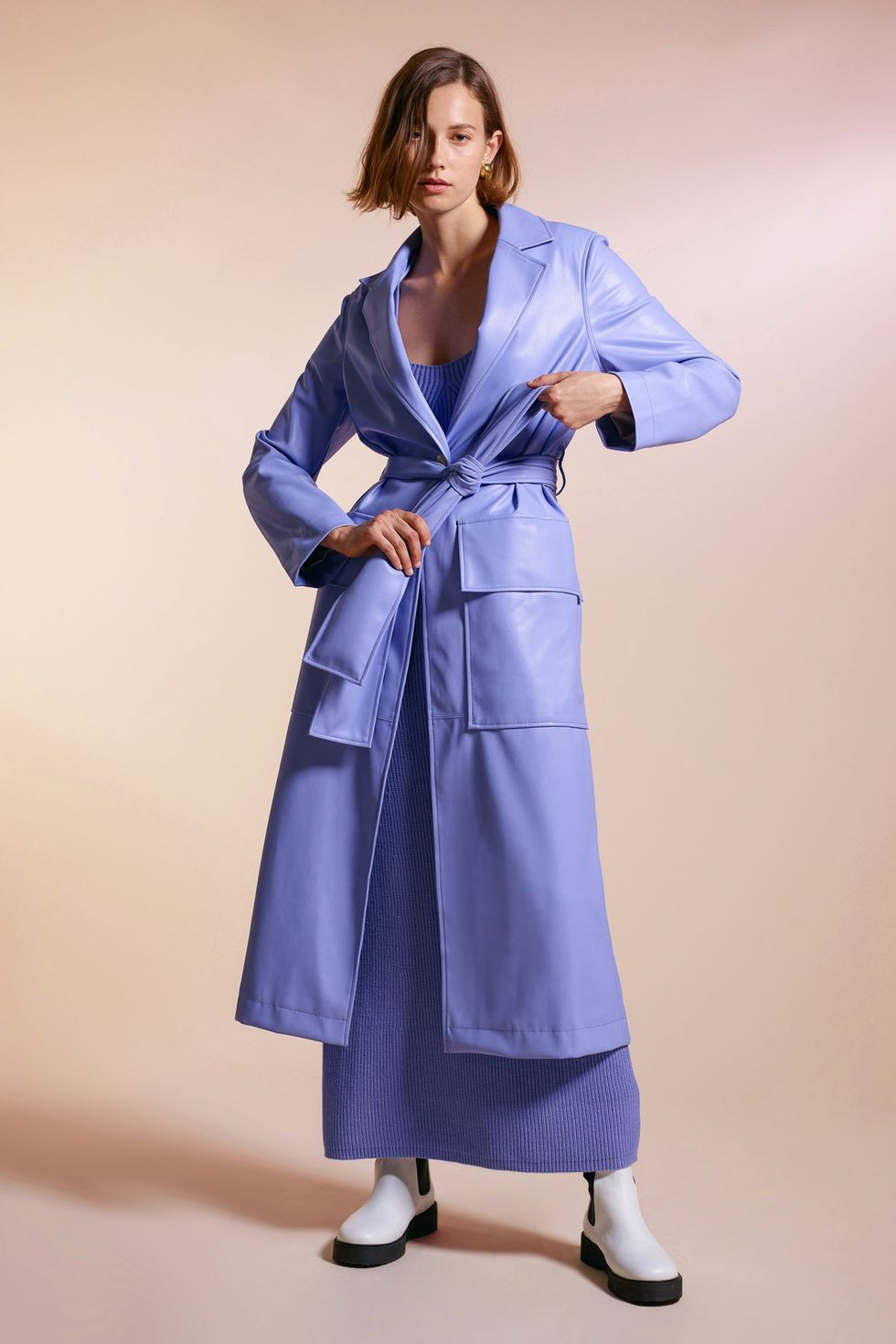 голубое пальто осень