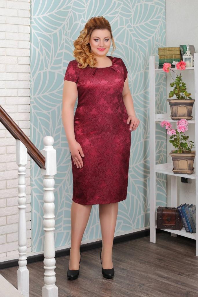 красное платье полным вечернее