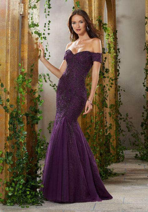 фиолетовое платье вечернее