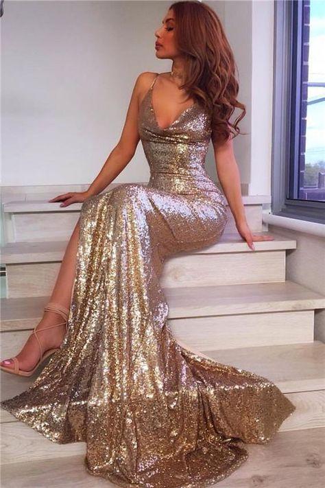 платье блестящее длинное вечернее красивое