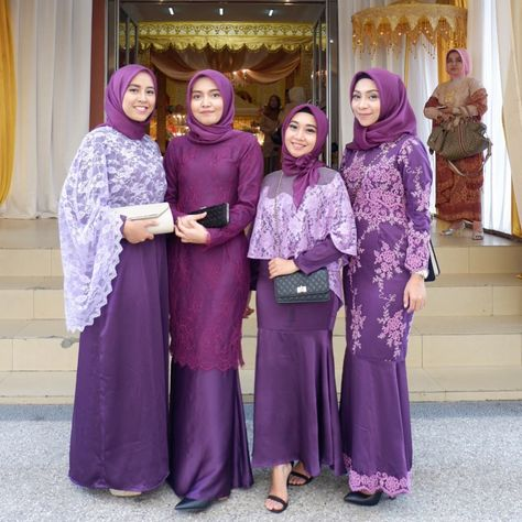 мусульманские платья фиолетовые