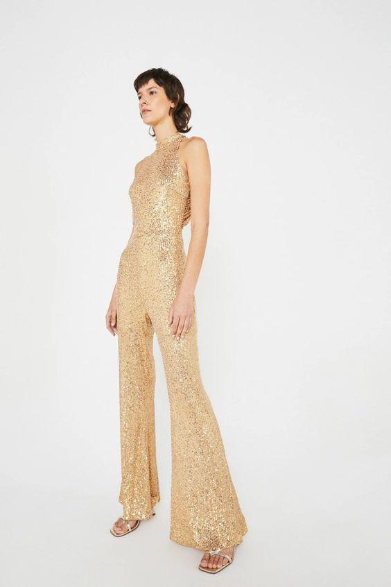 костюм золото женский